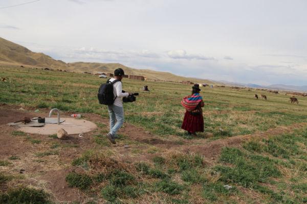 Dreharbeiten zum Dokumentarfilm Titicaca